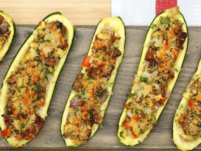 Image forStuffed Zucchini Boats