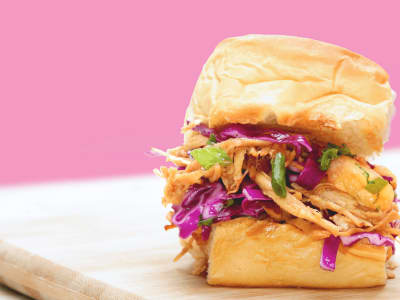 Image forSlow Cooker Hawaiian Chicken Sliders