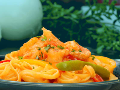 Image forShrimp Fajita Pasta