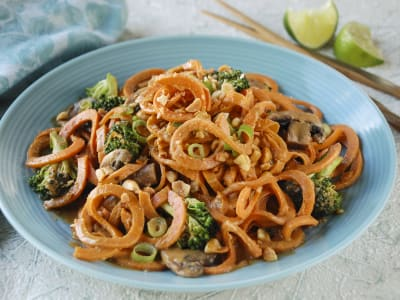 Image forSweet Potato Noodles in Spicy Peanut Sauce