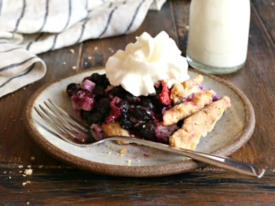 Image forMixed Berry and Goat Cheese Pie
