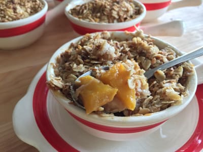 Image forGluten-Free and Vegan Banana, Mango, and Coconut Crisp