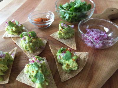 Image forMiso-Sesame Guacamole with Baked Chips