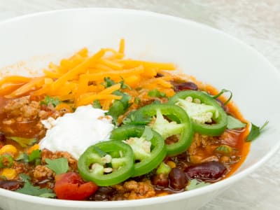 Image forSlow Cooker Turkey Chili