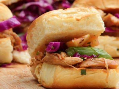 Image forMeal Prep: Pressure Cooker Hawaiian Chicken Sliders