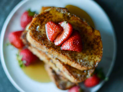 Image forVegan Chia Seed French Toast
