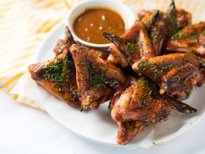 Image forRoasted Honey Barbeque Chicken Wings
