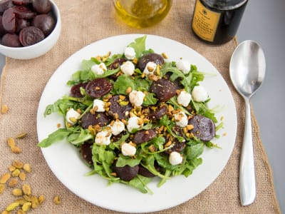 Image forBeet Salad with Goat Cheese and Pistachos