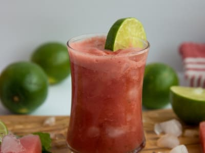 Image forWatermelon, Lime, and Mint Juice