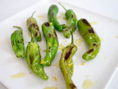 Image forBlistered Shishito Peppers with Lemon and Olive Oil