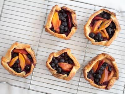 Image forBlueberry and Nectarine Crostadas