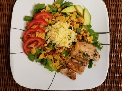 Image forHabañero-Spiced Taco Salad with Cilantro-Lime Baked Chicken