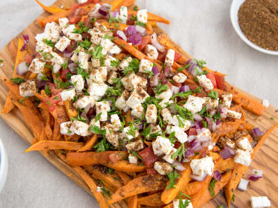 Image forOven Baked Feta Cheese Sweet Potato Fries