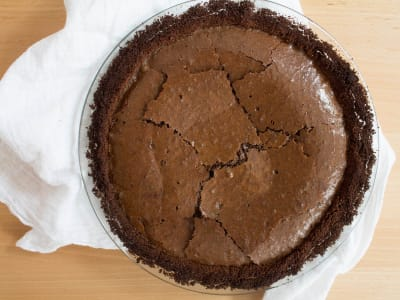 Image forFudge Chocolate Brownie Pie