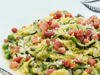 Image forSpiralized Zucchini Carbonara