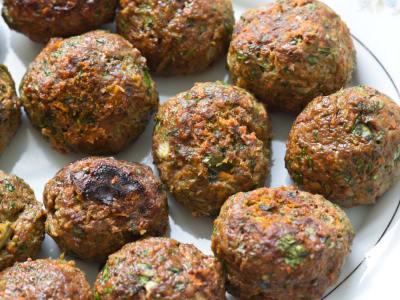 Image forVeggie-Packed Baked Meatballs
