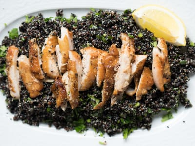 Image forLemon Chicken with Black Quinoa Salad
