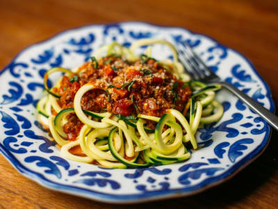 Image forSpiralized Zoodles in Bolognese Sauce