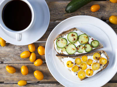 Image forYogurt Toast with Kumquat and Cucumber