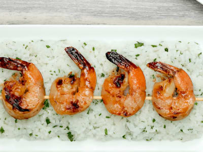 Image forHoney and Garlic Shrimp Skewers