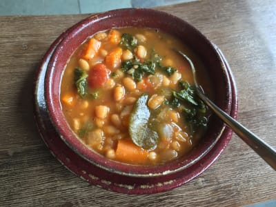 Image forThai Curry Bean Soup with Lemongrass and Lime