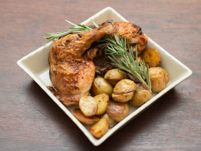 Image forRoast Chicken with Za'atar Rosemary Potatoes