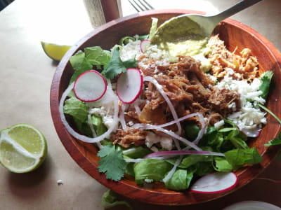 Image forSlow Cooker Pulled Pork Taco Salad Bowls
