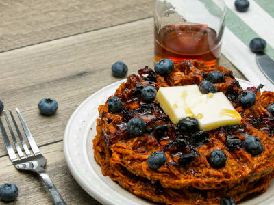 Image forBlueberry Sweet Potato Waffle
