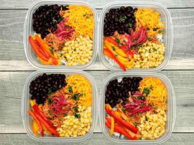 Image forMeal Prep: Pressure Cooker Chicken Burrito Bowl