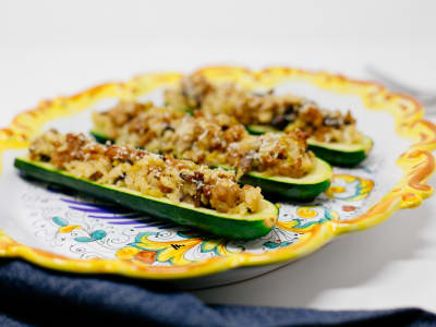Image forChicken Sausage Stuffed Zucchini