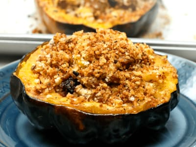 Image forTurkey and Cheddar Stuffed Acorn Squash