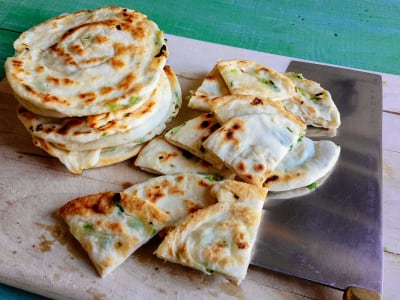 Image forGreen Onion Sesame Flatbreads