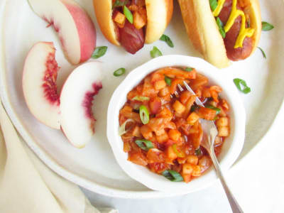 Image forKimchi-Peach Relish