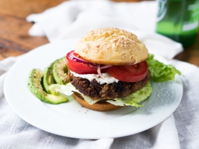 Image forVegan Black Bean Burgers