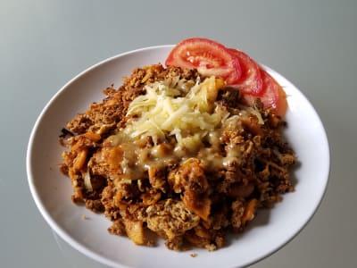 Image forChilaquiles with Turkey Chorizo
