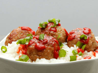 Image forGinger-Scallion Turkey Meatballs