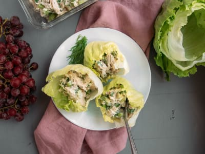 Image forHealthy Chicken Salad Cups