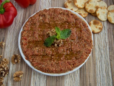 Image forSyrian Muhammara (Red Pepper and Walnut Spread)