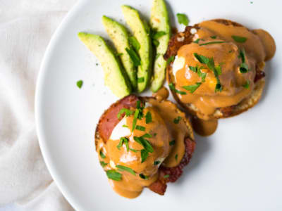 Image forMexican Eggs Benedict With Chipotle