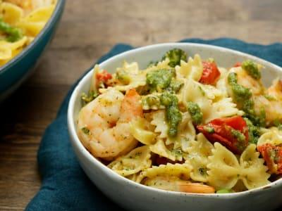 Image forOne-Pot Shrimp Pesto Pasta