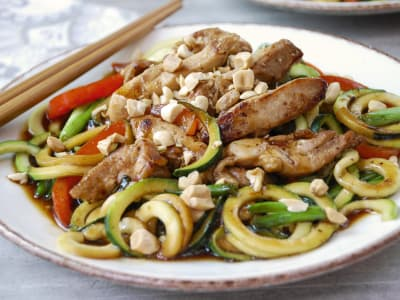 Image forDrunken Zucchini Noodles with Chicken