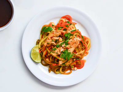 Image forSpiralized Zucchini Pad Thai with Chicken