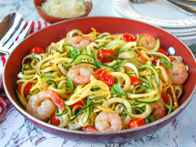 Image forGarlic Shrimp with Squash Zoodles