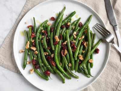 Image forPressure Cooker Steamed Green Beans with Cranberries and Walnuts