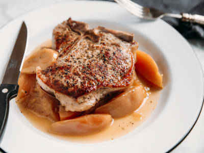 Image forPressure Cooker Pork Chops and Apples