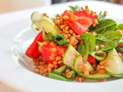 Image forWheatberry Salad with Strawberries and Basil