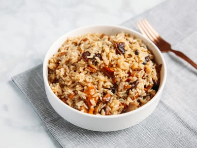 Image forPressure Cooker Brown Rice Pilaf with Mushrooms