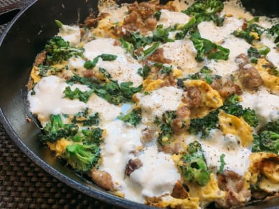 Image forChicken Apple Sausage Frittata with Broccoli and Mozzarella