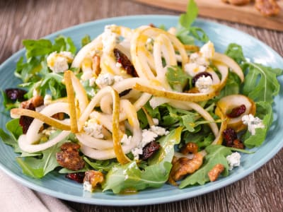 Image forPear and Arugula Salad with Maple-Dijon Dressing