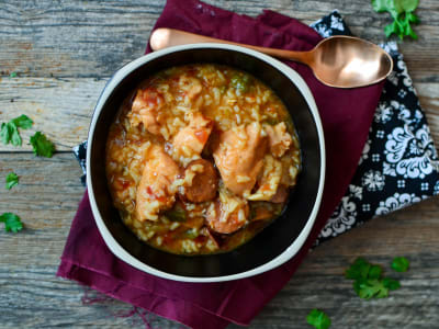 Image forPressure Cooker Chicken and Sausage Jambalaya